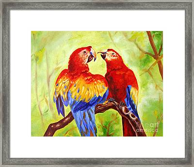 Love Birds  Framed Print by Ragunath Venkatraman