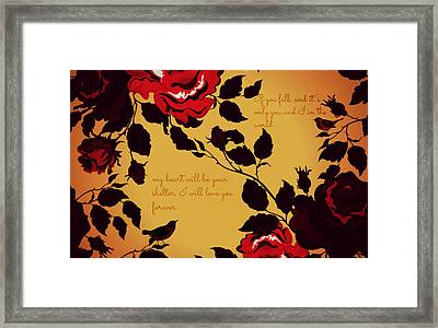 Love Birds...if You Fall Framed Print