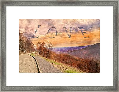 Love Blue Ridge Parkway Framed Print