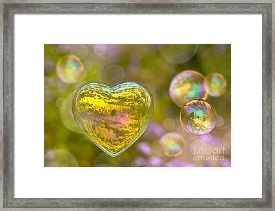 Love Bubble Framed Print by Delphimages Photo Creations