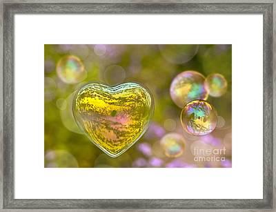 Love Bubble Framed Print
