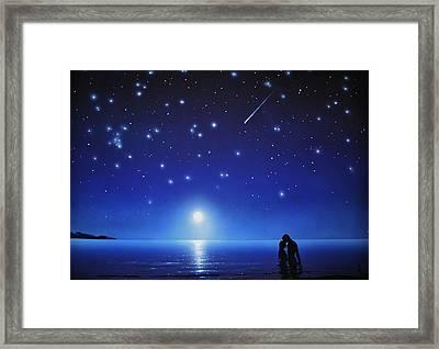 Love By Moonlight Framed Print