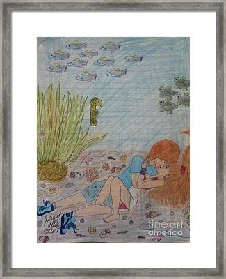 Love By The Sea Framed Print by Johnny Allen