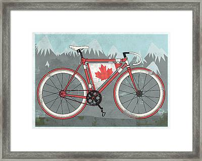 Love Canada Bike Framed Print