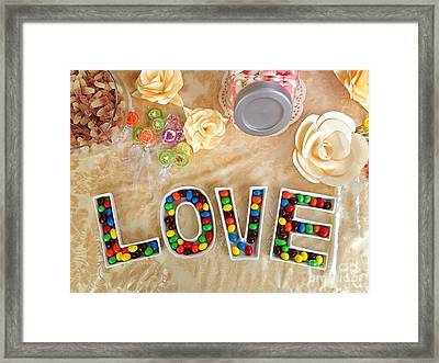 Love Candies Framed Print by Lars Ruecker