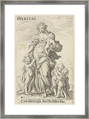 Love Caritas, Anonymous, Hendrick Goltzius Framed Print by Artokoloro