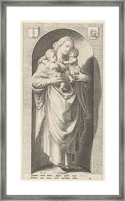 Love Caritas, Jacob Matham, Franco Estius Framed Print by Jacob Matham And Franco Estius