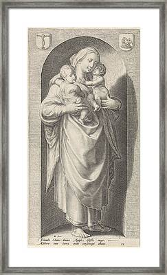 Love Caritas, Print Maker Jacob Matham Framed Print by Jacob Matham And Hendrick Goltzius And Franco Estius