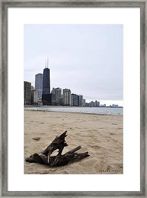 Love Chicago Framed Print
