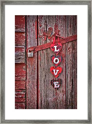 Love Close Up At Windsor Castle Framed Print
