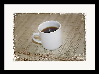 Love Coffee And Music Framed Prints
