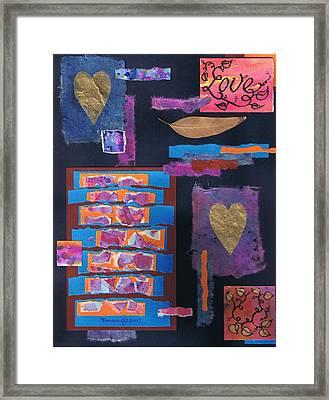 Love Collage 1 Framed Print by Tamara Kulish