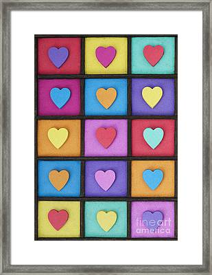 Love Colour Framed Print by Tim Gainey