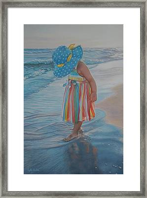 Love Comes In Many Colors Framed Print by Holly Kallie