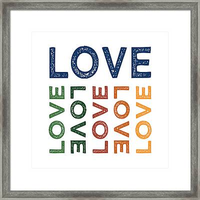 Love Cute Colorful Framed Print by Flo Karp