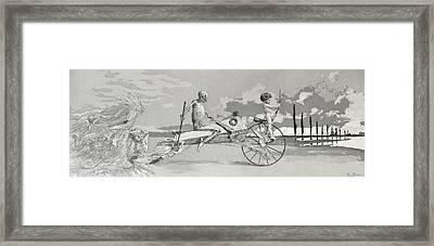 Love Death And Beyond Framed Print by Max Klinger