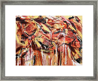 Love  Energy  Strength Framed Print by Victoria  Johns