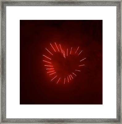Framed Print featuring the photograph Love Explosion by Linda Mishler