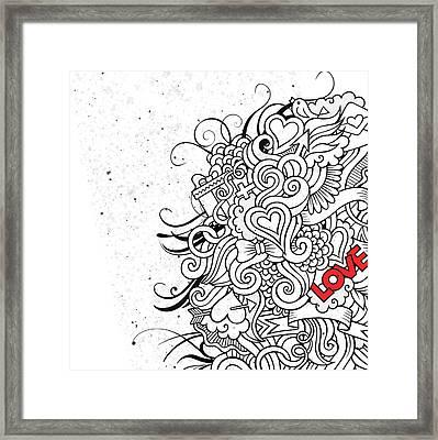 Love Flair Framed Print by Bomo