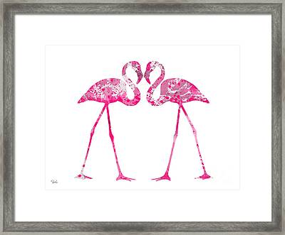 Love Flamingos Framed Print