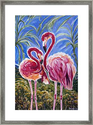 Love Flamingos  Framed Print by Yelena Rubin
