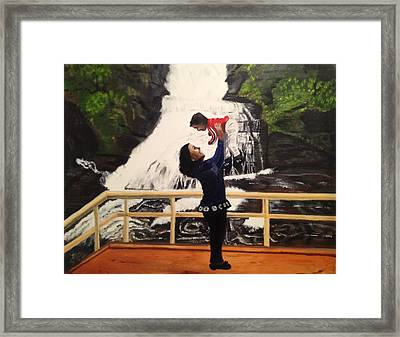Love Flows Like The Waterfalls Framed Print by Brindha Naveen
