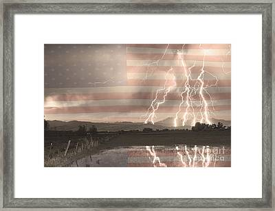 Love For Country Framed Print by James BO  Insogna