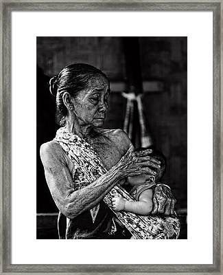 Love For My Grandson Framed Print by Ari Widodo