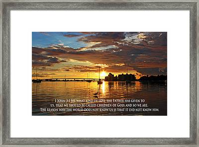 Love For The Children Of God Framed Print by Ronald Suffron