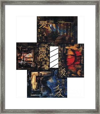 Framed Print featuring the painting Love Four Seasons by Fei A