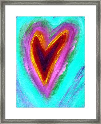 Love From The Heart Framed Print