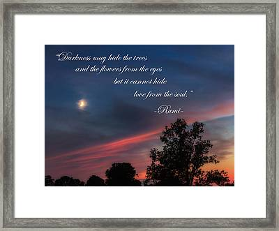 Love From The Soul Framed Print by Bill Wakeley