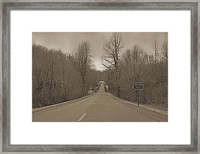 Love Gap Blue Ridge Parkway Framed Print