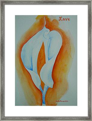 Calla Lilies Framed Print by Geeta Biswas