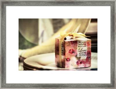 Love Gift Box Framed Print by Suradej Chuephanich