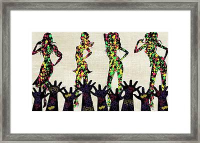 Framed Print featuring the digital art Love Girls by Digital Art Cafe