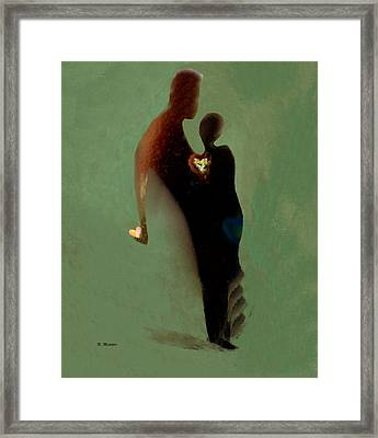 Framed Print featuring the digital art Love by Haleh Mahbod