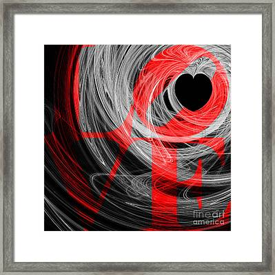 Love Heart 20130707 V2b Framed Print by Wingsdomain Art and Photography