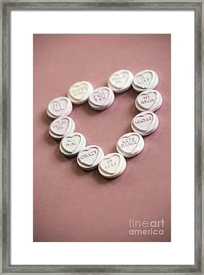 Love Heart Heart Framed Print