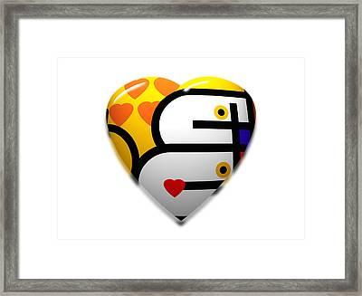 Love Heart Pop Framed Print