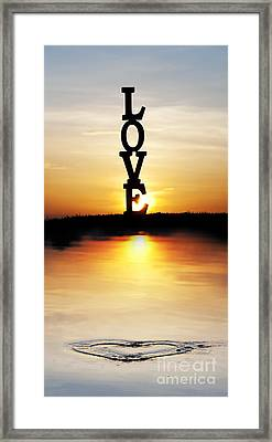 Love Heart Framed Print by Tim Gainey