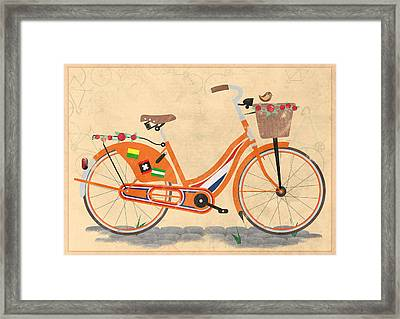 Love Holland Love Bike Framed Print