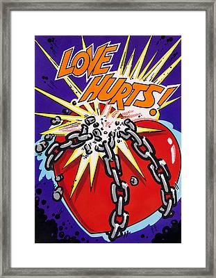 Love Hurts Framed Print by MGL Studio