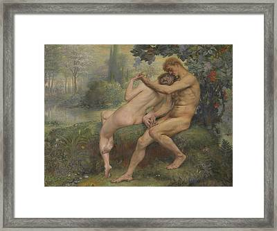 Love Hymn Framed Print by Auguste Leveque