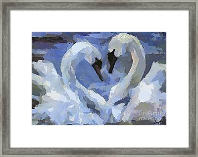 Love In Blue Framed Print by Dragica  Micki Fortuna