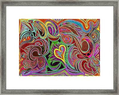 love in every shade of U v7 - love in every shade of blue Framed Print