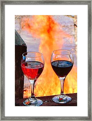 Framed Print featuring the photograph Love In Hell by Marie Neder