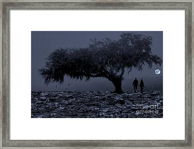 Love In Moon Light Framed Print