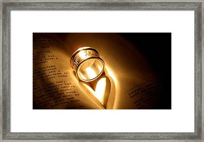 Love In Pages Framed Print by Stephen Melcher