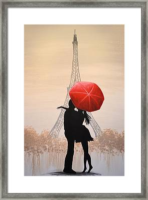 Love In Paris Framed Print by Amy Giacomelli